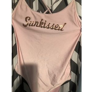 Forever 21+ Open Back Pink Bathing Suit
